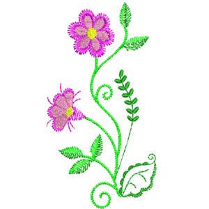 Matriz de bordado Floral 28