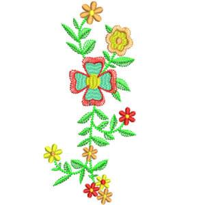 Matriz de bordado Floral 33