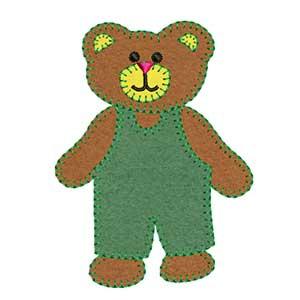 Matriz de bordado ursinho aplique 1