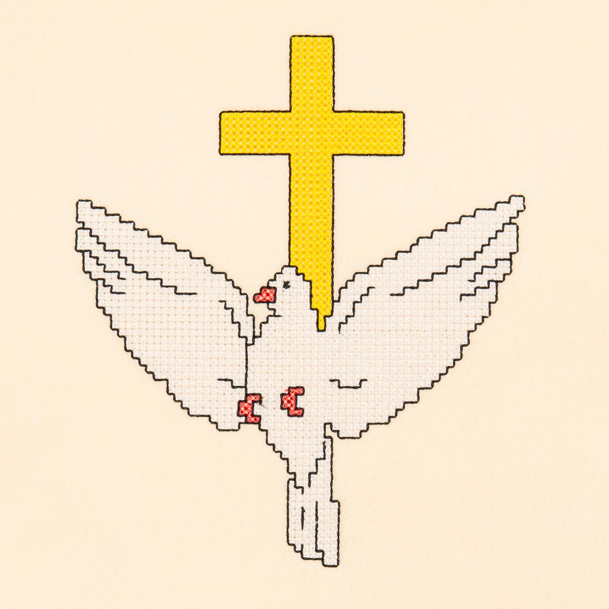 Matriz de bordado pomba ponto cruz