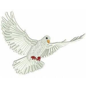 Matriz de bordado pombo