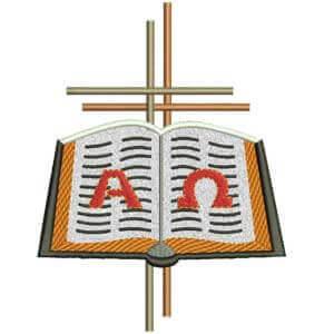 Matriz de bordado Bíblia 8 aplique