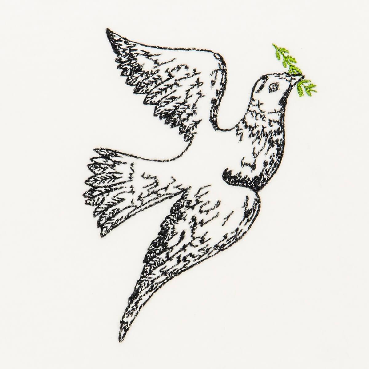 Matriz de bordado Paz 02