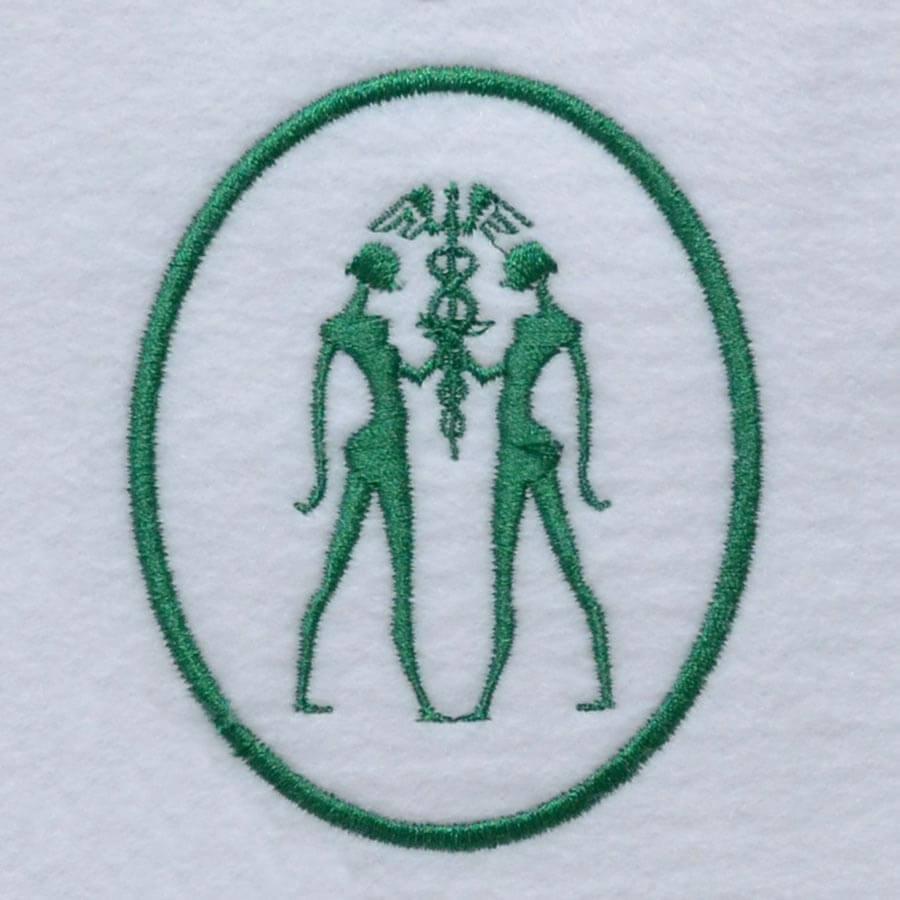 Matriz de bordado brasao esteticista    1