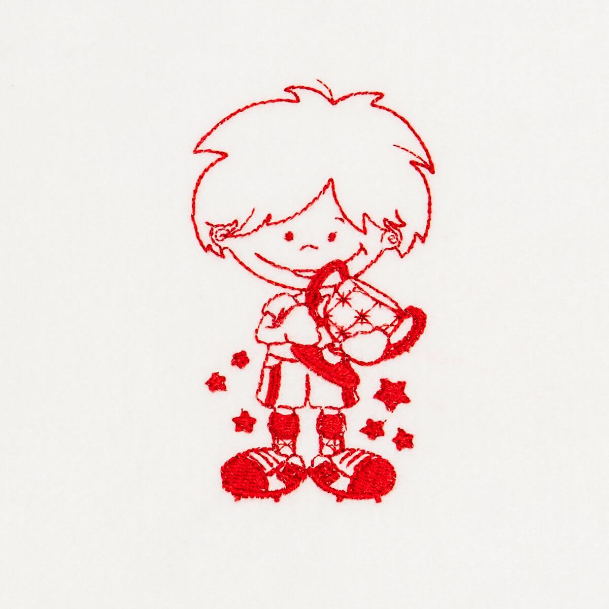 Matriz de bordado menino 14