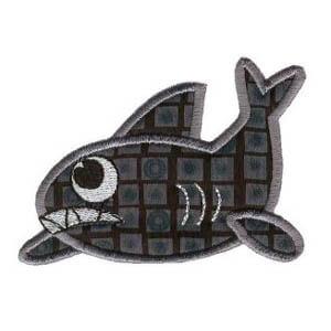Matriz de bordado tubarão 05 (aplique)