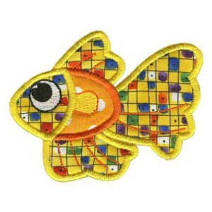 Matriz de bordado peixe 08 (aplique)