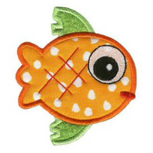 Matriz de bordado peixe 10 (aplique)