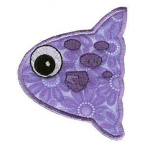 Matriz de bordado peixe 11 (aplique)