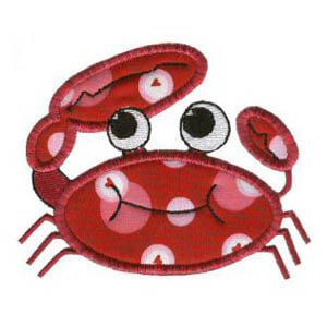 Matriz de bordado caranguejo 01 (aplique)