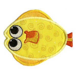 Matriz de bordado peixe 21 (aplique)
