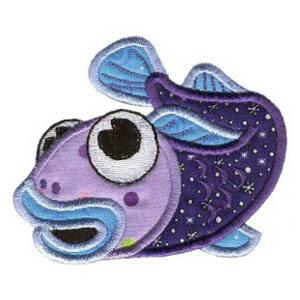 Matriz de bordado peixe 22 (aplique)