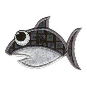 Matriz de bordado peixe 25 (aplique)