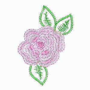 Matriz de bordado floral 01