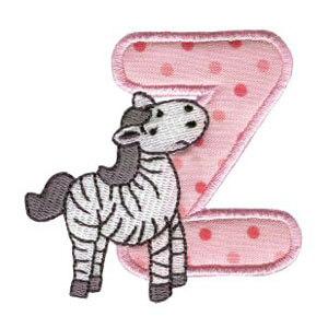 Matriz de bordado Monograma aplique infantil letra Z