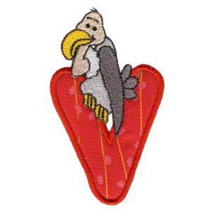 Matriz de bordado Monograma aplique infantil letra V