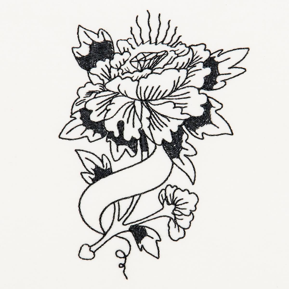 Matriz de bordado floral 05