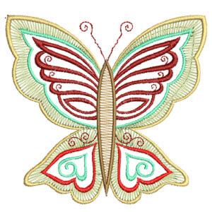 Matriz de bordado borboleta