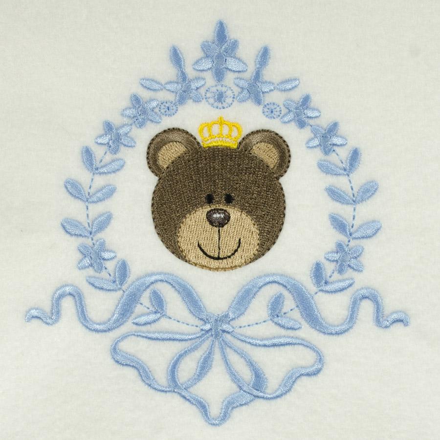 Matriz de bordado ursinho moldura 12