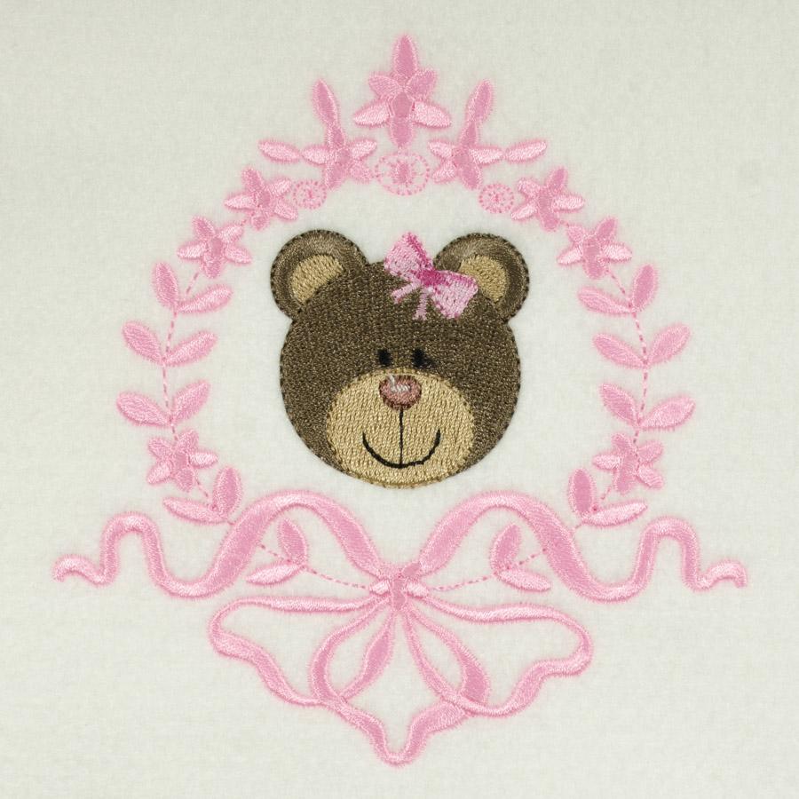 Matriz de bordado ursinho moldura 13