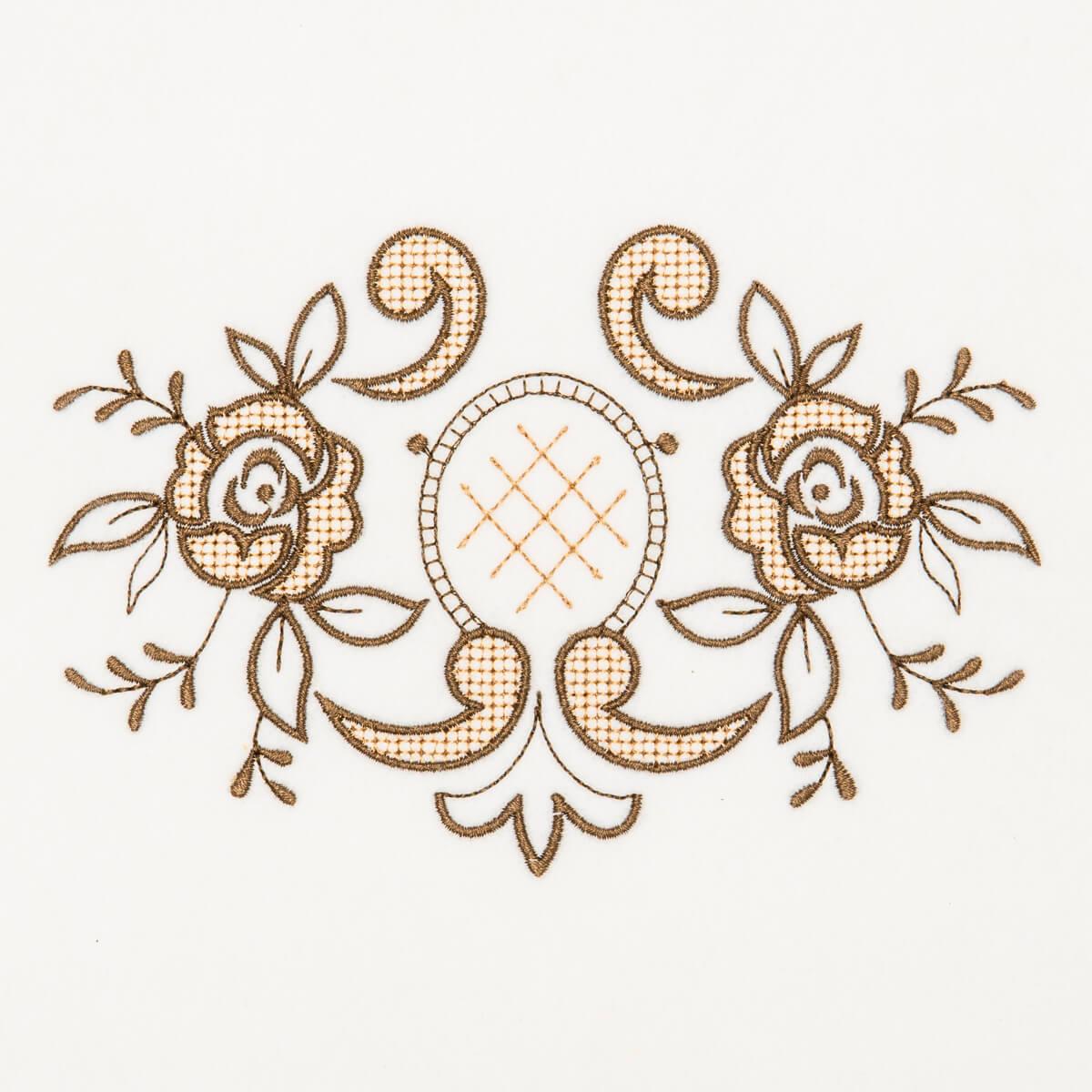 Matriz de bordado floral 378