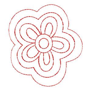 Matriz de bordado Floral 10