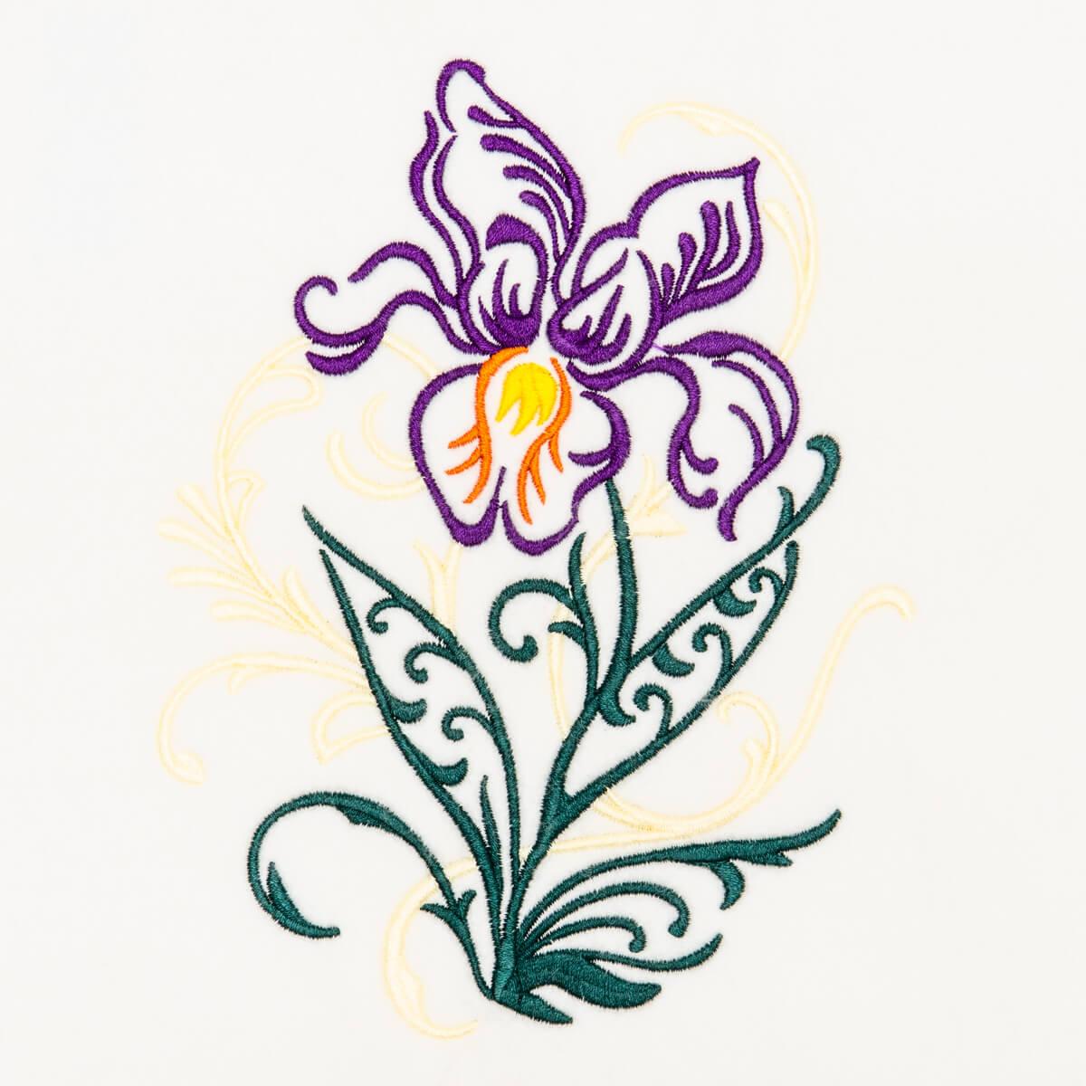 Matriz de bordado floral 407