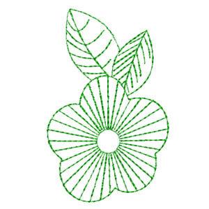 Matriz de bordado Floral 11