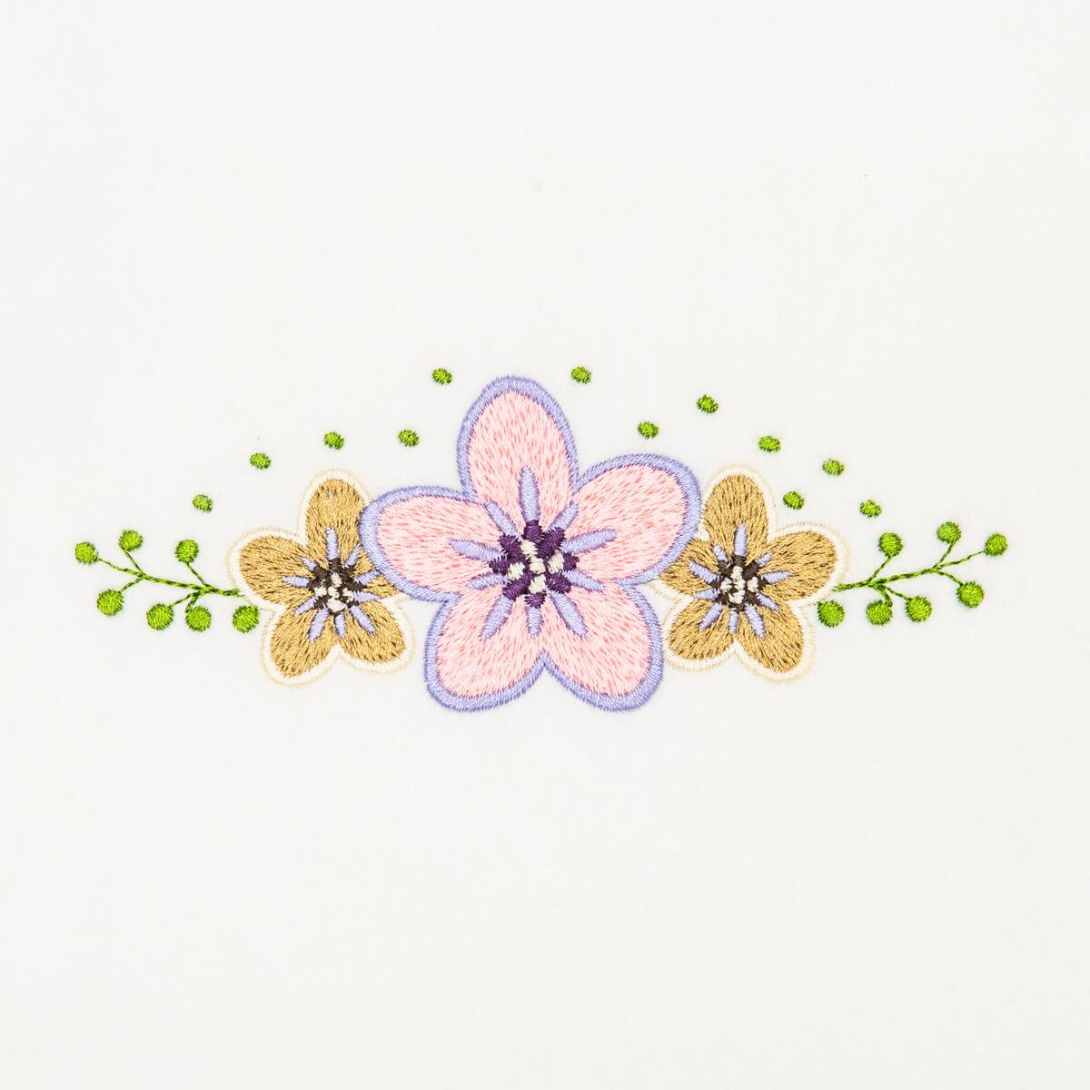 Matriz de bordado floral 422
