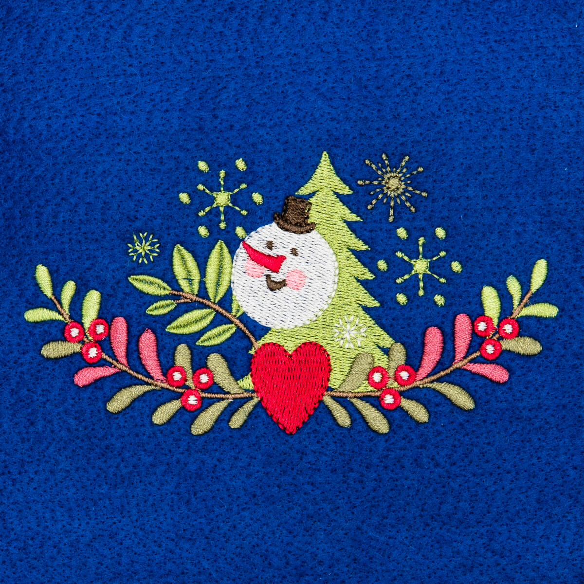 Matriz de bordado floral natalino 8