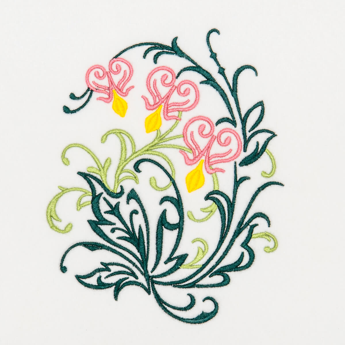 Matriz de bordado floral 446