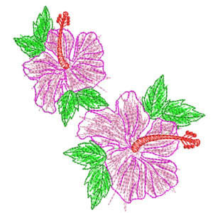 Matriz de bordado floral 12
