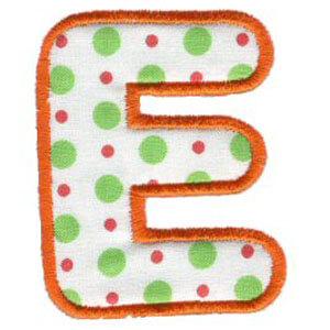 Matriz de bordado Monograma Aplique Infantil 3 Letra E
