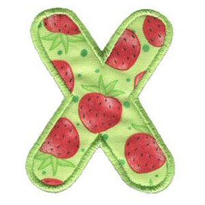 Matriz de bordado Monograma Aplique Infantil 3 Letra X