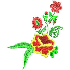 Matriz de bordado floral 16