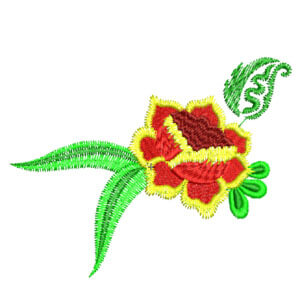 Matriz de bordado floral 17