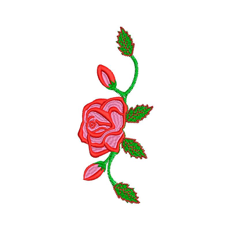 Matriz de bordado Floral 18