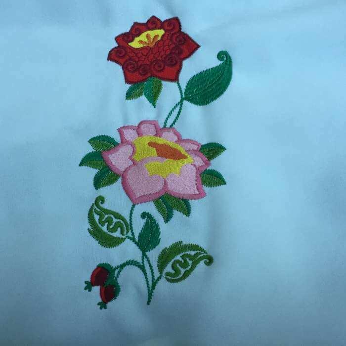 Matriz de bordado Floral 21