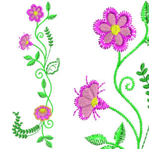 Matriz de bordado Floral 25