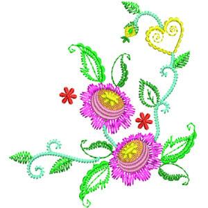 Matriz de bordado Floral 26