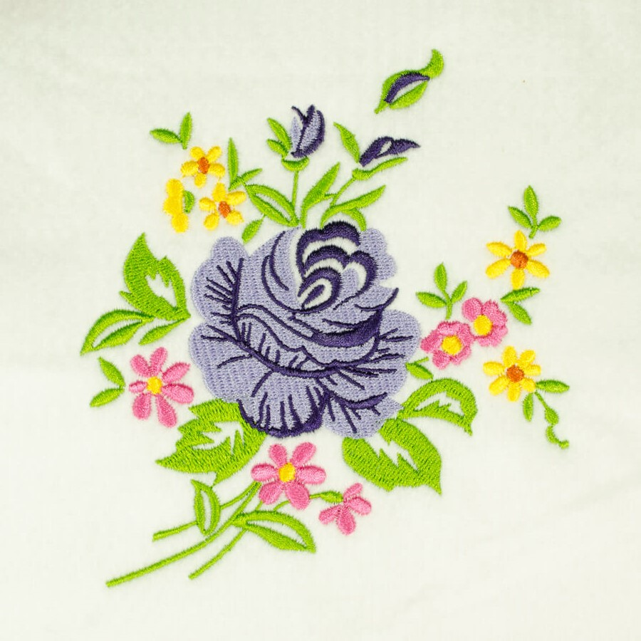 Matriz de bordado floral 487