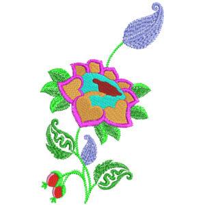 Matriz de bordado Floral 27