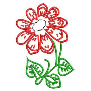 Matriz de bordado Floral 30