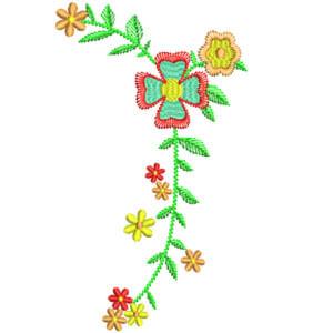 Matriz de bordado Floral 32