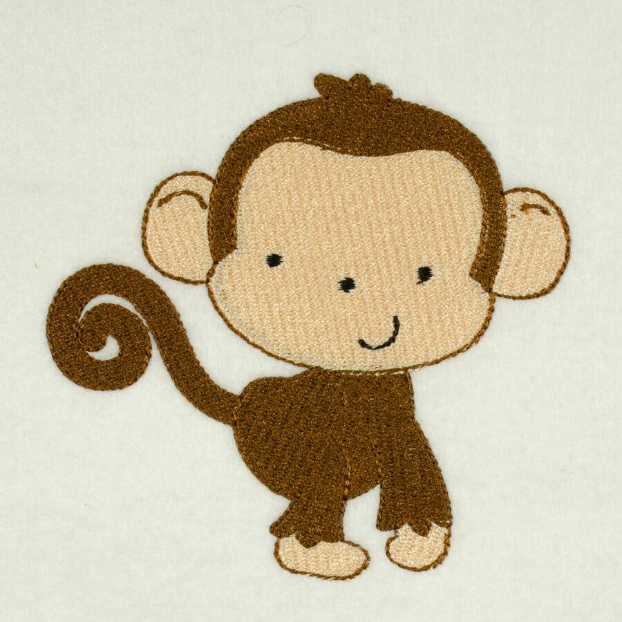 Matriz de bordado Macaco