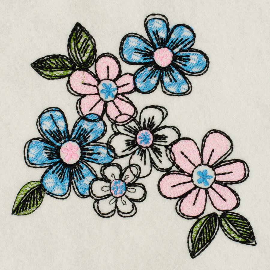 Matriz de bordado Floral 34