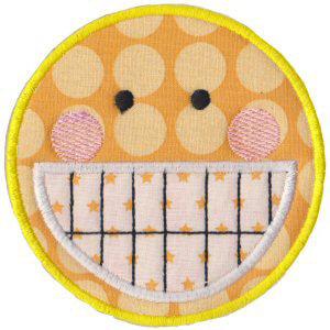 Matriz de bordado Smile 01