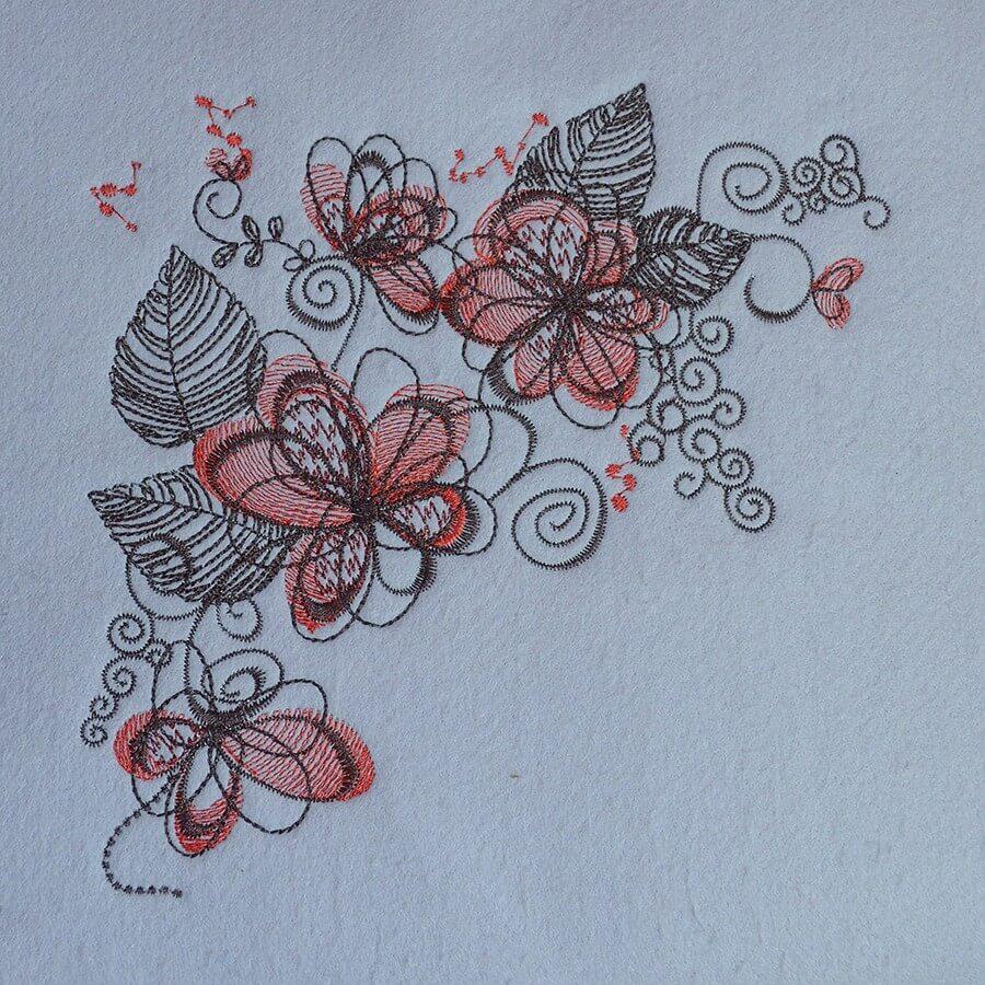 Matriz de bordado floral 508