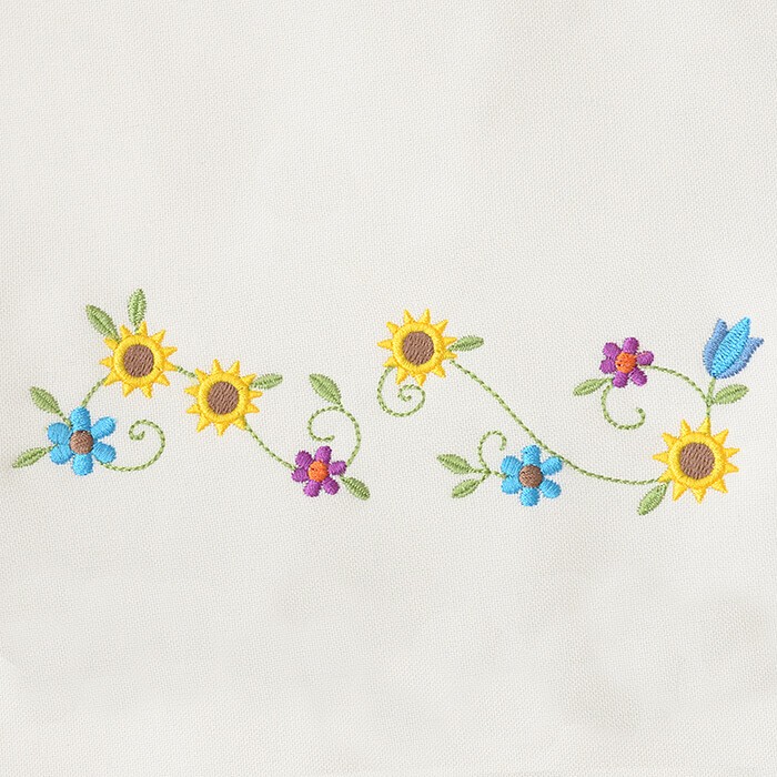 Matriz de bordado floral 510