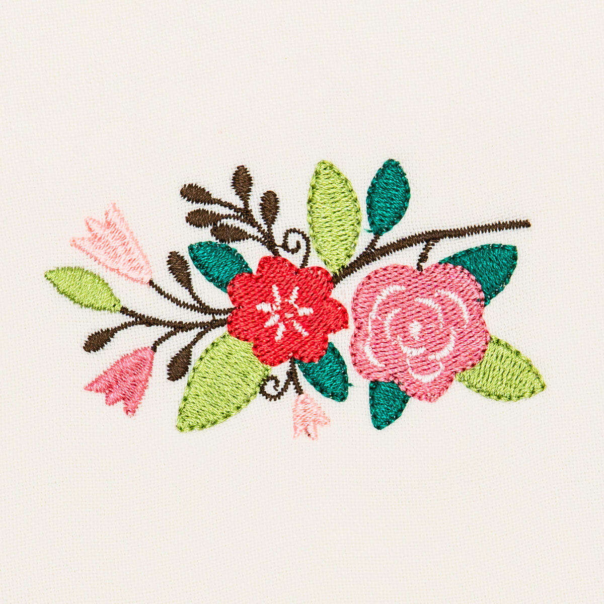 Matriz de bordado floral 512